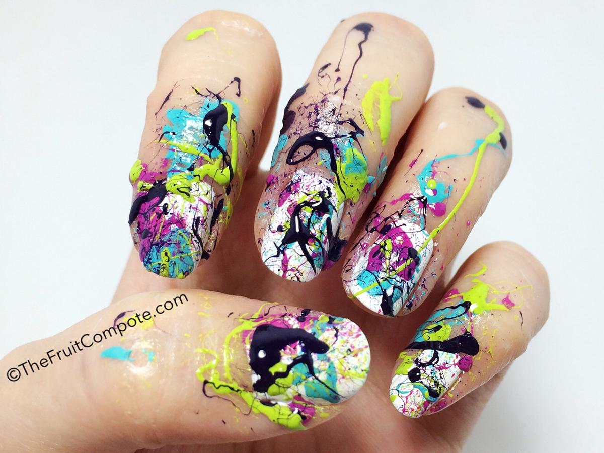 Jackson pollock nails the fruit compote splatter nail art 3 prinsesfo Choice Image