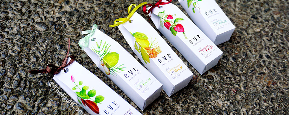 The Colorful Evete Naturals Lip Balms