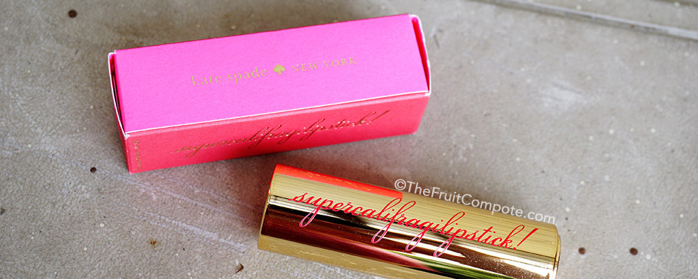 LoTW: Kate Spade Supercalifragilipstick! in Fanciful Merlot