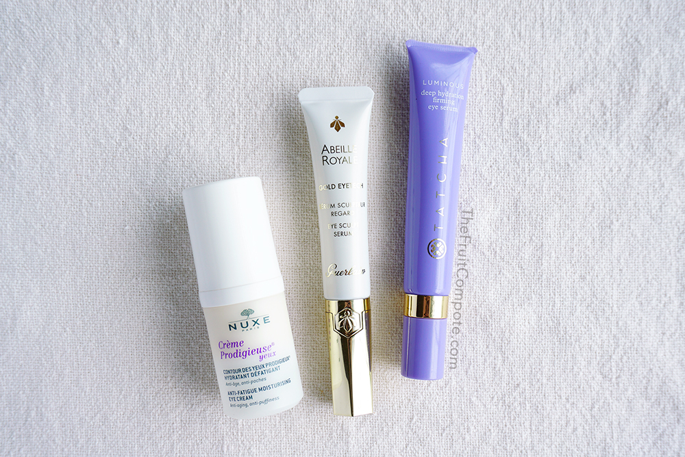 eye-treatment-nuxe-tatcha-eye-serum-guerlain-abeille-royale-review-photos